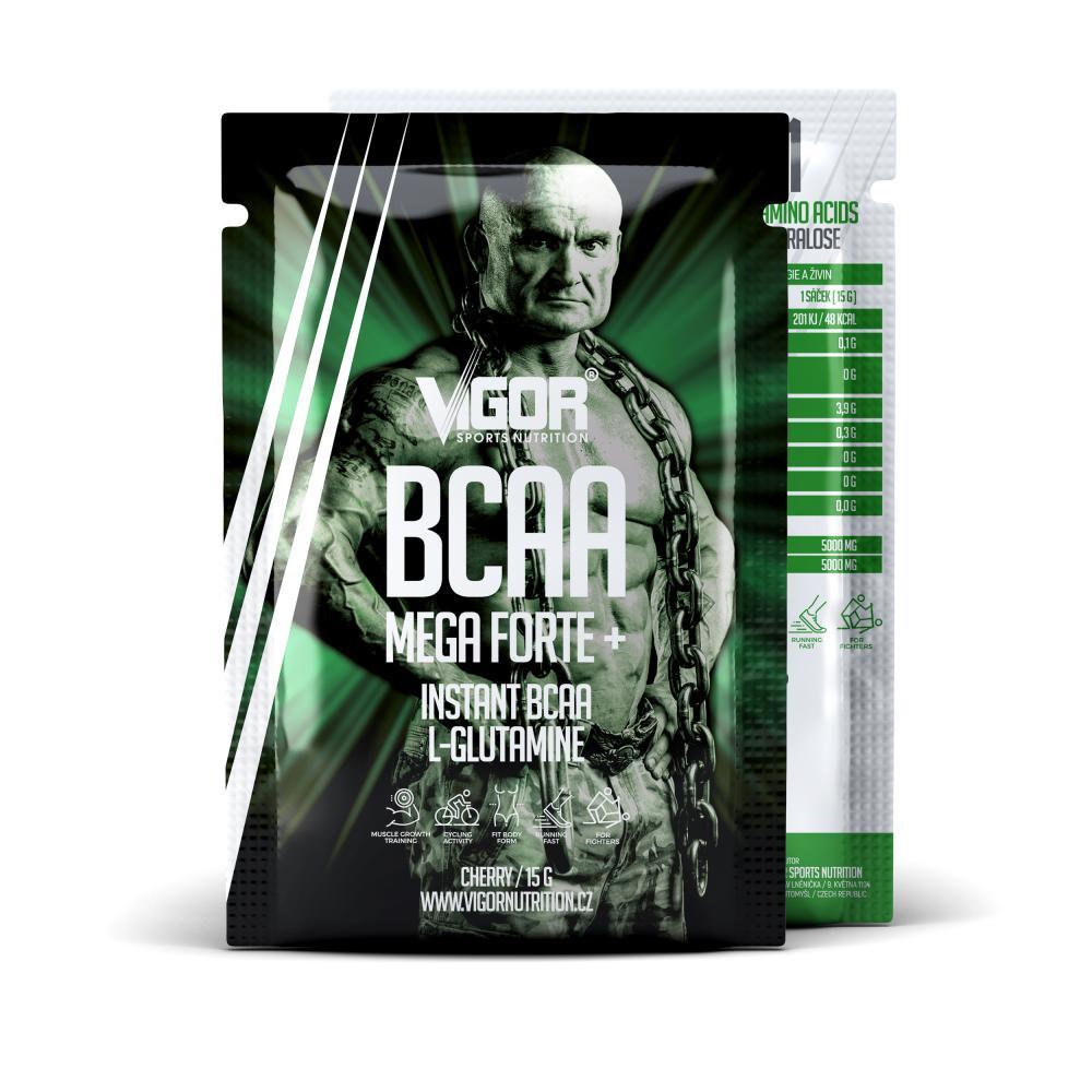 BCAA MEGA FORTE+ - vzorek (15 g) Příchuť višeň náhled