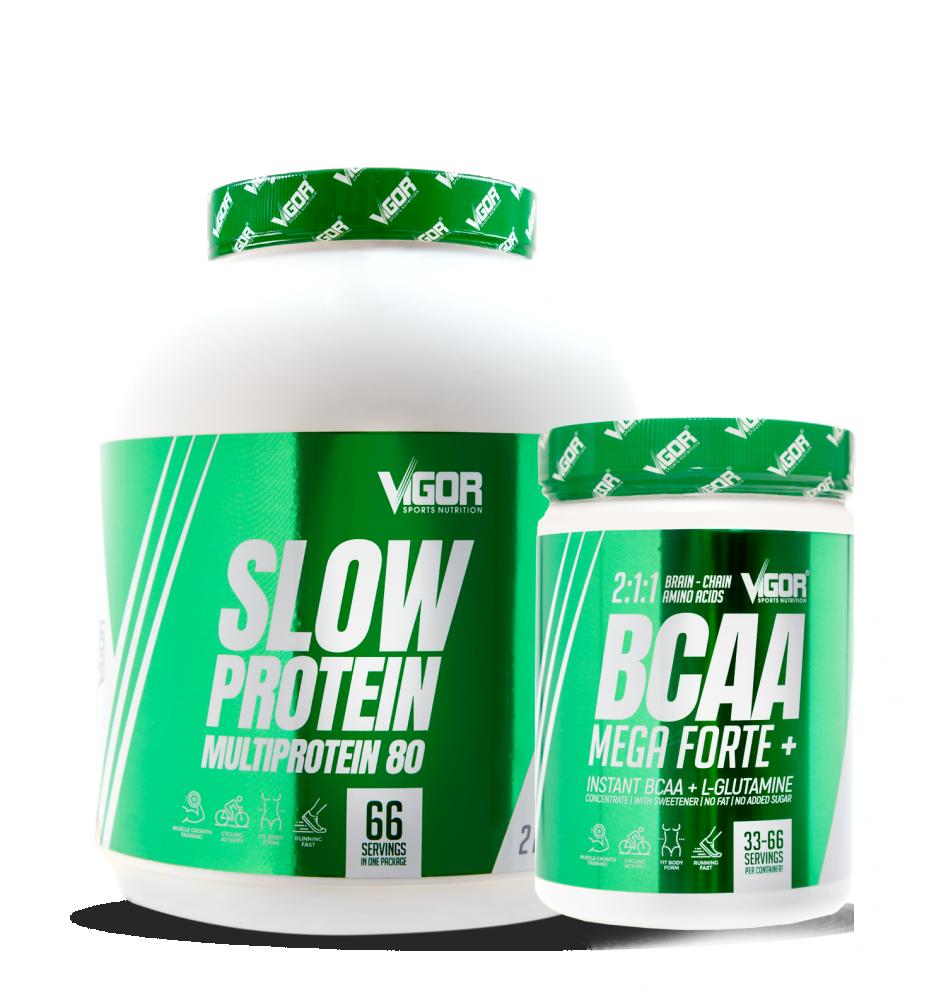 Slow Protein + BCAA Mega Forte náhled