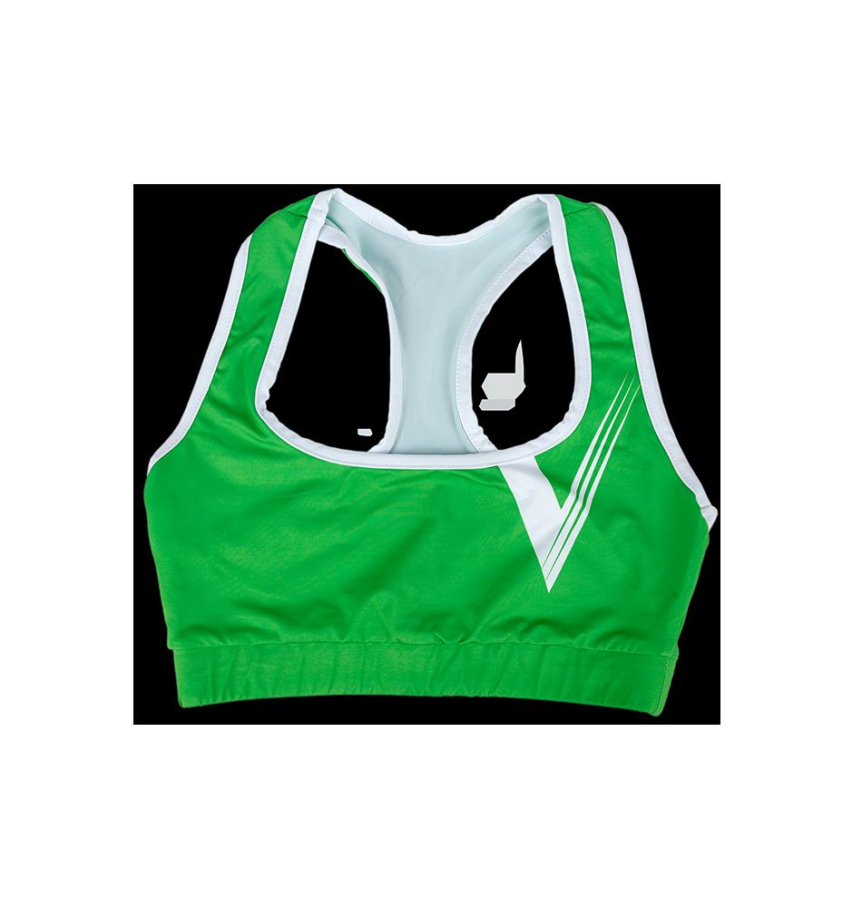 Sportovní podprsenka zelená